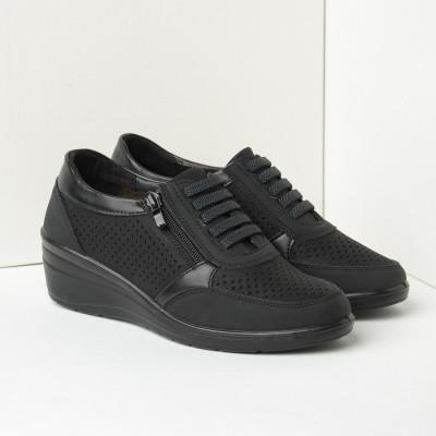 Ženske cipele/patike na ortoped petu L082101 crne