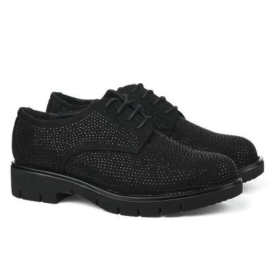 Ženske cipele sa kristalima L85400 crne