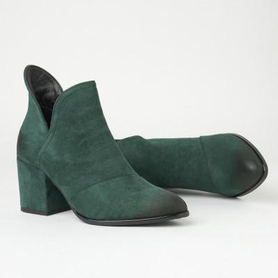 Ženske kratke čizme na malu petu A2108 zelene