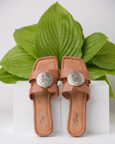 Ženske ravne papuče LP212102 kamel