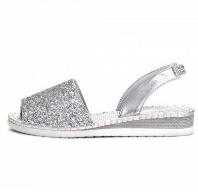 Ženske sandale sa šljokicama LS061901 srebrne