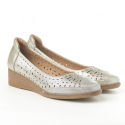 Cipele na malu petu C2031 svetlo zlatne