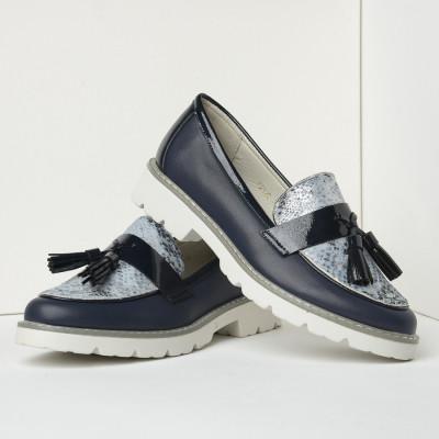 Cipele na malu petu C2120B teget