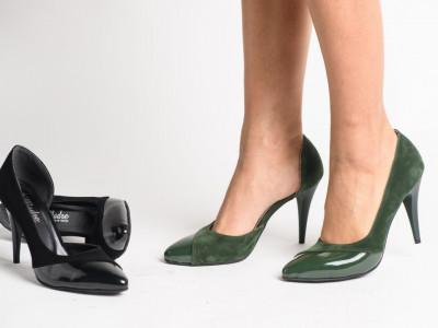Cipele na štiklu 206 maslinaste