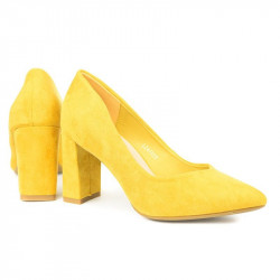Cipele na štiklu L241929 žute