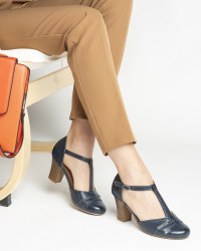 Cipele/sandale na štiklu S400 teget
