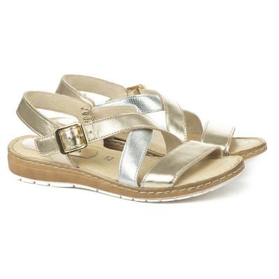 Italijanske kožne sandale 332045 zlatne
