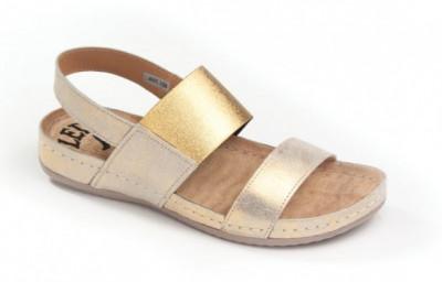 Kožne anatomske sandale 730 zlatne