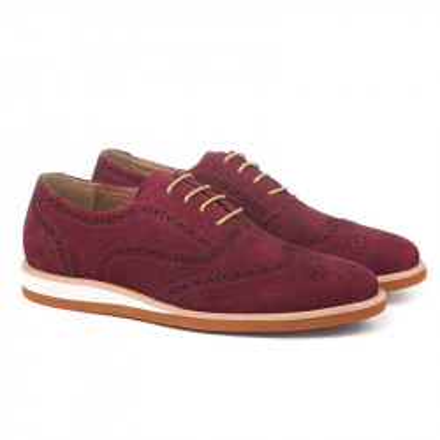 Kožne muške cipele K01A13-11 bordo