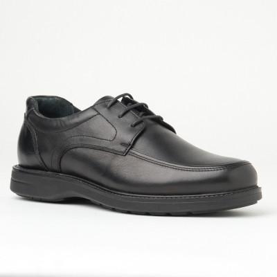 Kožne muške cipele na pertlanje AP922 crne