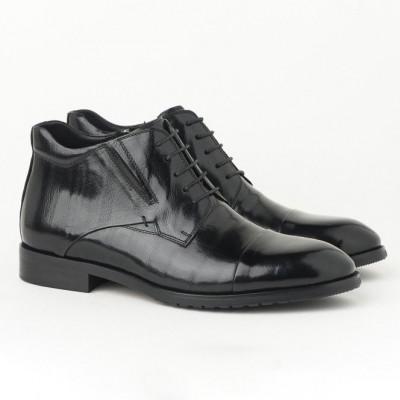 Kožne muške duboke cipele HL-H1051F-3A crne