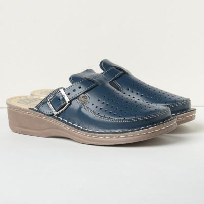 Kožne papuče 635 teget