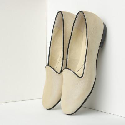 Kožne ženske ravne cipele B30/270 bež