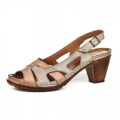 Kožne ženske sandale K1879/526 bež