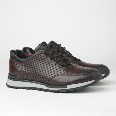 Muške kožne patike/cipele F6817/022 braon