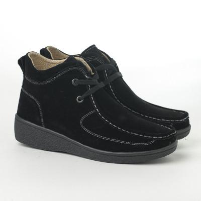 Poluduboke ženske kožne cipele C868 crne