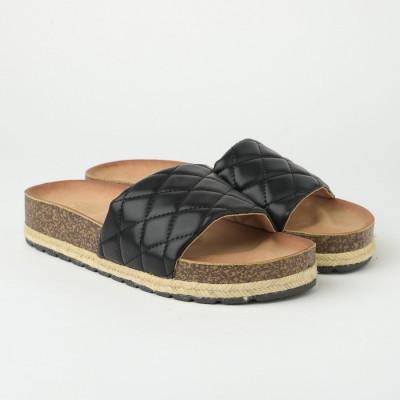 Ravne papuče na debelom đonu LP022109 crne
