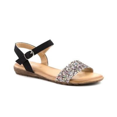 Ravne sandale LS020586 crne