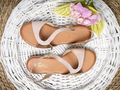Ravne sandale LS021903 roze