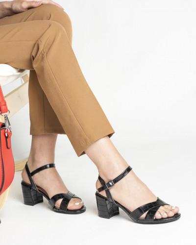 Sandale na deblju petu S450 crne
