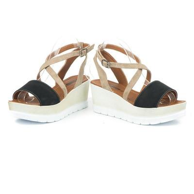 Sandale na platformu 5485/1021 crne
