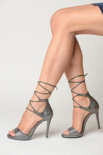 Sandale na štiklu 174 sive