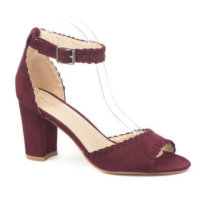 Sandale na štiklu 3602-13 bordo