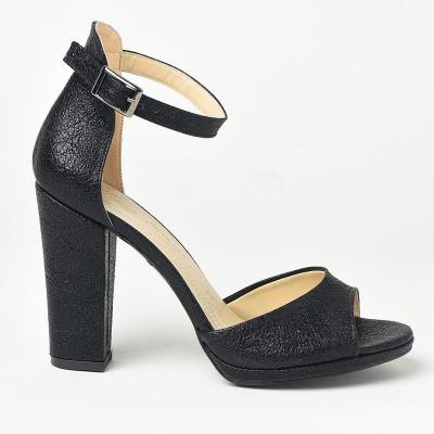 Sandale na štiklu 573 crne