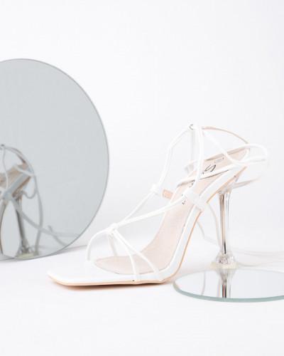 Sandale na štiklu LS022119 bele