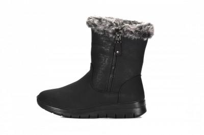 Tople ženske poluduboke čizme LH082036 crne
