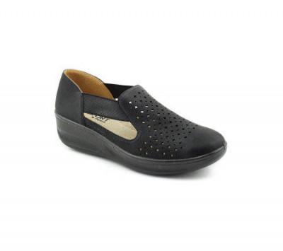 Ženske cipele na debljem đonu L020809 crne