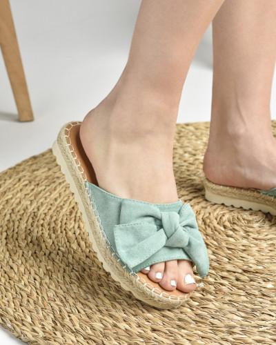 Ženske papuče na debelom đonu LP212026 mint