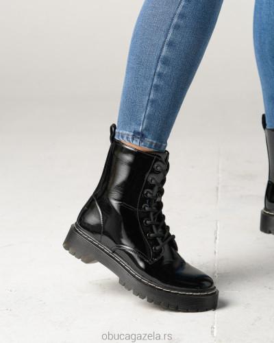 Ženske poluduboke čizme CA528-1 crne