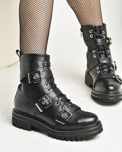 Ženske poluduboke čizme LH561922 crne