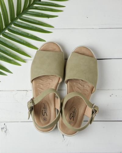Ženske sandale na debelom djonu LS062101 zelene