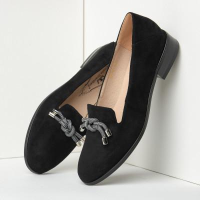 Cipele na malu petu C2118 crne