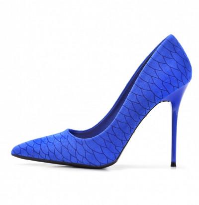 Cipele na štiklu L241915 plave