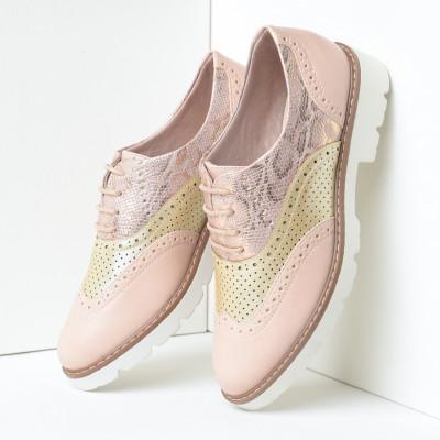 Cipele oksfordice C2110 puder roze