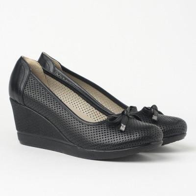 Cipele sa platformom 2843 crne