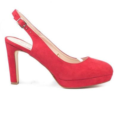 Cipele / sandale na štiklu LS7068 crvene