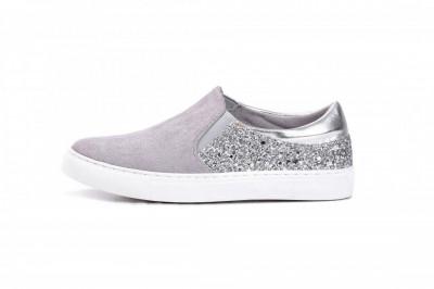 Espadrile / patike za devojčice C251902 sivo/srebrne