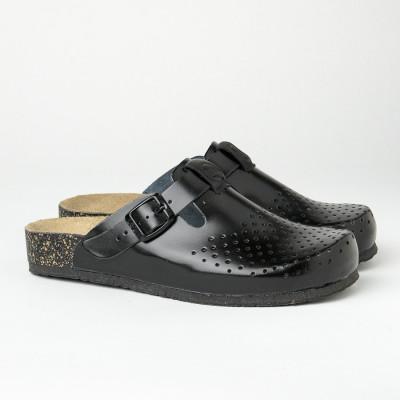 Kožne papuče/klompe 1250 crne