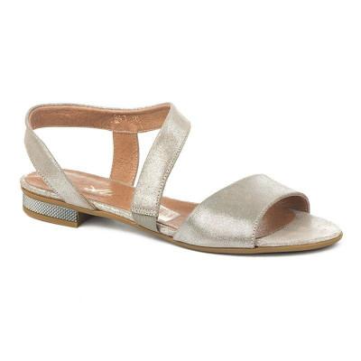 Kožne ravne sandale 11-841