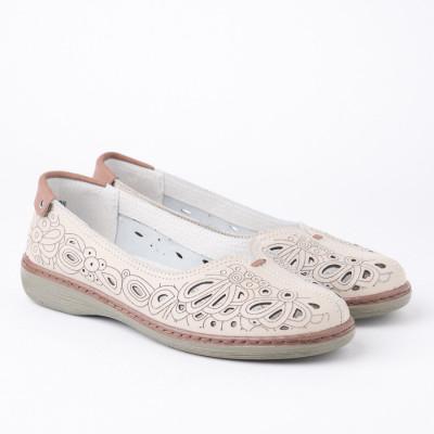 Kožne ženske cipele 2069 bež