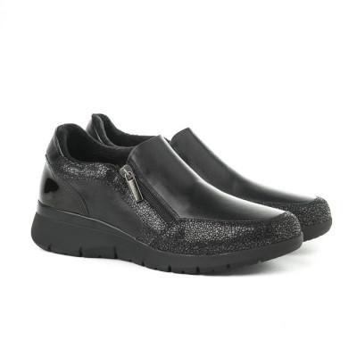 Kožne ženske cipele 640015 CRNE