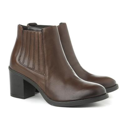Kožne ženske kratke cizme 875010 cuoio