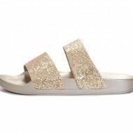 Ravne papuče LP021925 zlatne