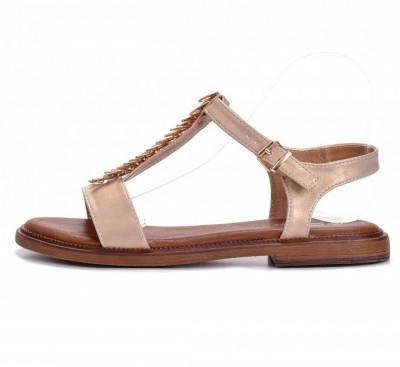 Ravne sandale LS211906 zlatne