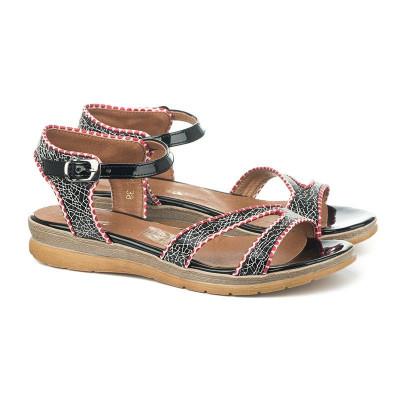Ravne sandale sa kožnom tabanicom 7-826