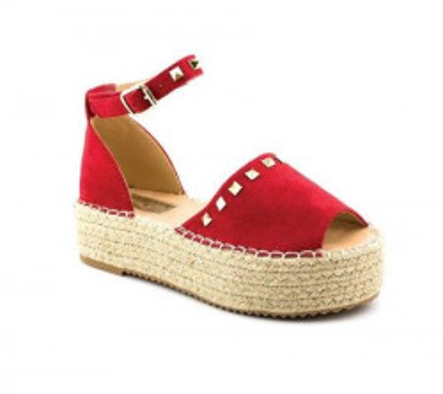 Sandale na debelom đonu LS90211 crvene